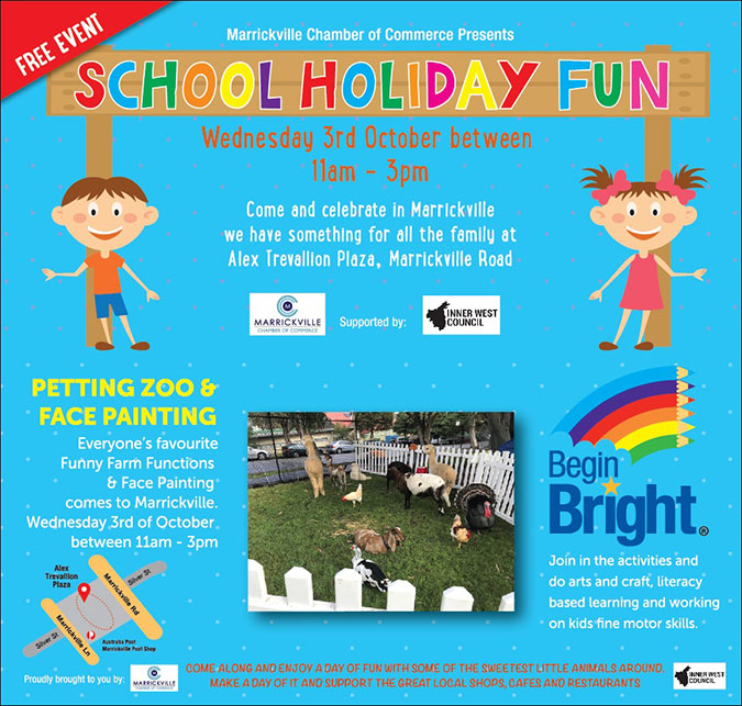 October School Holiday Fun – Marrickville Chamber of Commerce